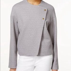 Rachel Rachel Roy textured gray blazer jacket
